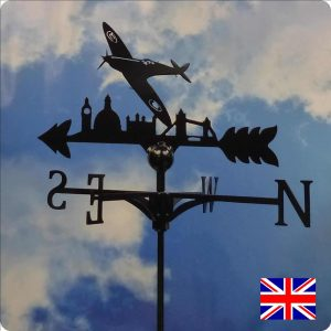 Spitfire Over London Weathervane
