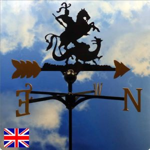 George & the Dragon Weathervane Gold