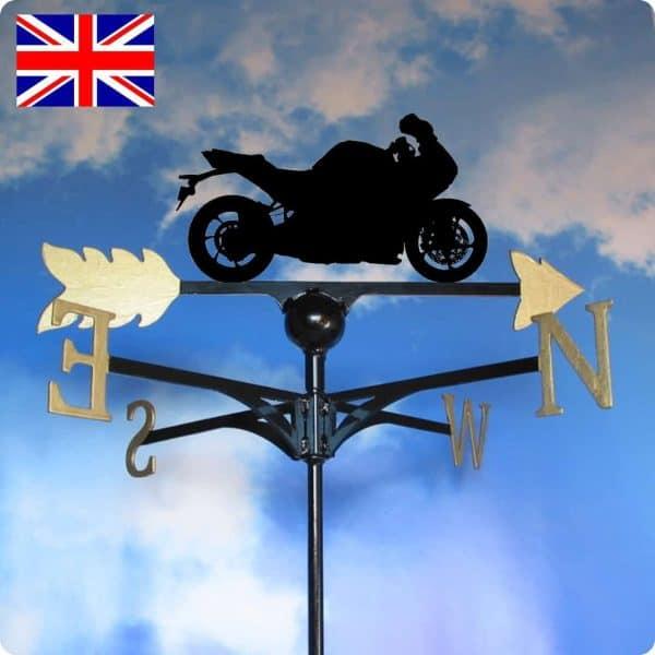 Sportsbike Motorcycle Weathervane