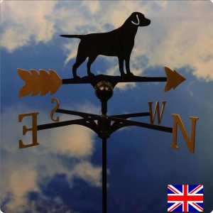 Labrador Weathervane Gold