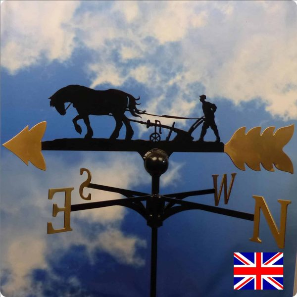 Horse and plough weathervane