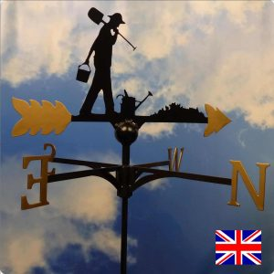 Gardening Weathervane Gold