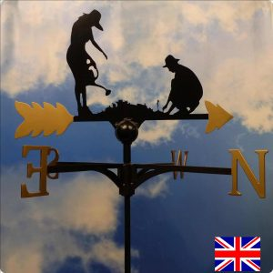 Gold Gardening Weathervane