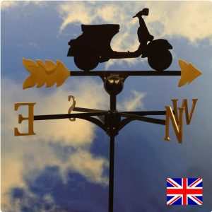 Scooter Weathervane Gold