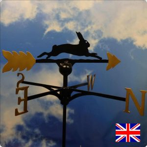 Running Hare Gold Weathervane