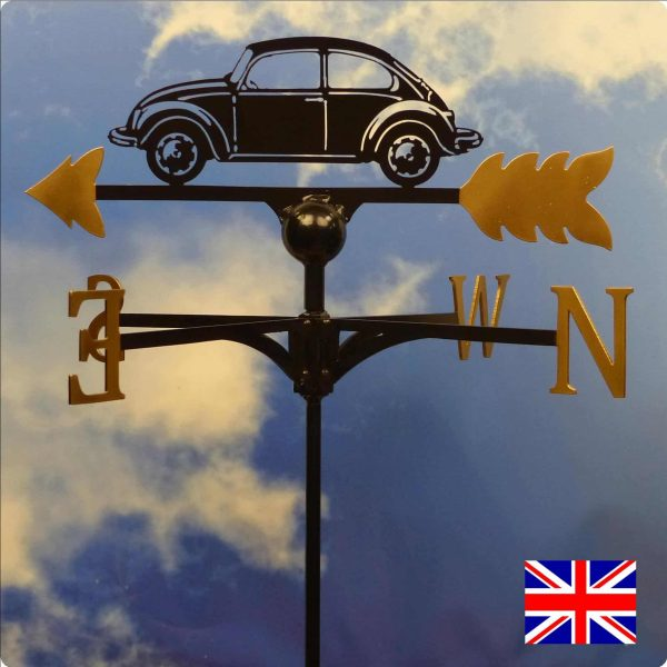 VW Beetle / Bug Weathervane Gold