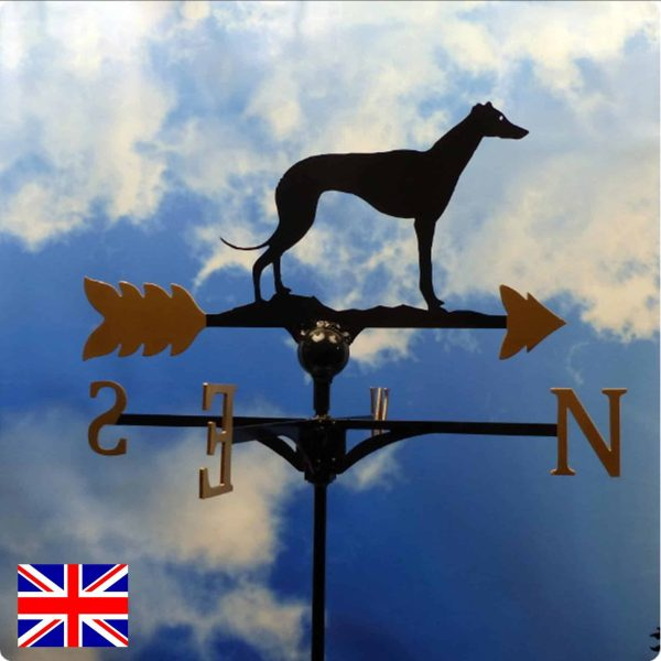 Standing Greyhound Weathervane Gold