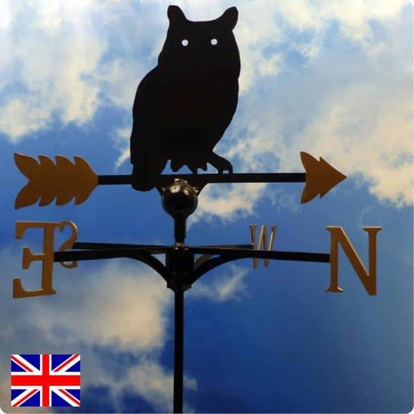 Traditional Owl Weathervane Gold