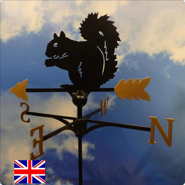 Squirrel Weathervane Gold