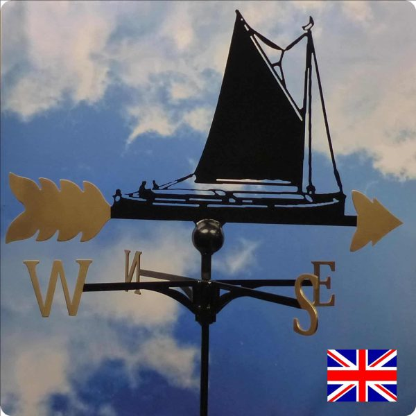 Norfolk Wherry Weathervane Gold