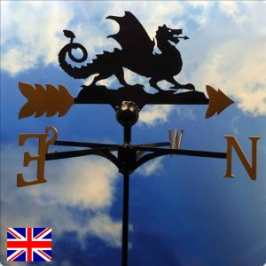Welsh Lion Weathervane Gold