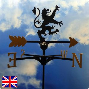 Scottish Lion Weathervane Gold