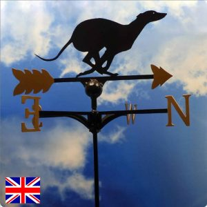 Racing Greyhound Weathervane Gold