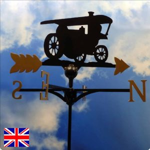 Steam Engine Weathervane Gold