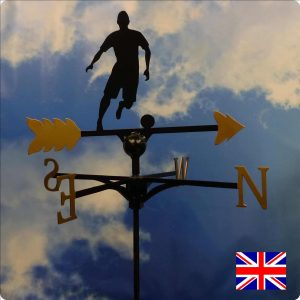 Footballer Weathervane Gold