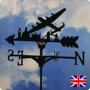 Lancaster over London Skyline Weathervane