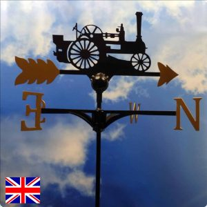 Marhsl Steam Engine Weathervane Gold