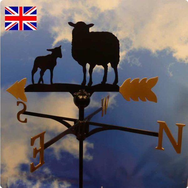Sheep Weathervane Gold