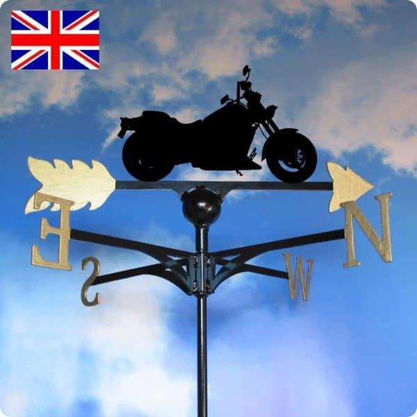 Harley Davidson Weathervane Gold