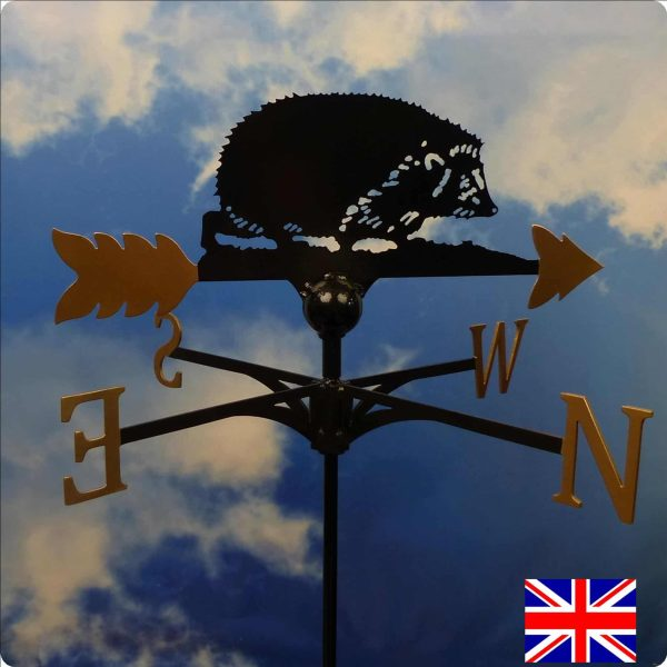 Hedgehog Weathervane Gold