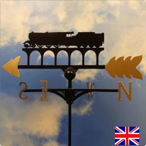 Flying Scotsman Weathervane Gold